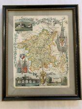 Framed Old Map of Worcester