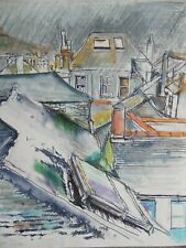 St Ives Rooftops, Cornish Landscape. Geoffrey Underwood M/Media. Listed
