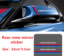 2Pcs White PERFORMANCE Rear-view Mirror Decal Stickers For M3 M5 3 5 7Series