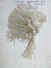 "Pr Vintage/Antique Art Deco Victorian Glass Beaded Tassel Fringe  2 3/4"""