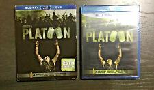 Platoon 25th Anniversary (Blu-ray/Dvd, 2011, 2-Disc Set) w Rare Slip Cover, New!