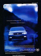 2000 Cadillac Seville STS Original Advertisement Print Art Car Ad J606