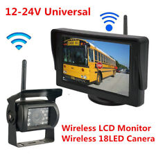 "4.3"" HD Bus Truck Wireless LCD Monitor Rear View System+Waterproof Backup Camera"