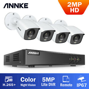 ANNKE 5MP Lite 1080p 2MP Night Time Starlight Color Security CCTV Camera System