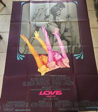 AFFICHE CINEMA 120x160 1969 LOVE Ken Russel Alan Bates Glenda Jackson RARE !