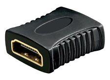 HDMI Adapter Kupplung vergoldet - HDMI Buchse auf HDMI Buchse Full HD 1080p