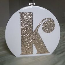 """NWT Authentic Limited Edition Kate Spade Gold Evening Belles Initial """"K"""" Clutch"""