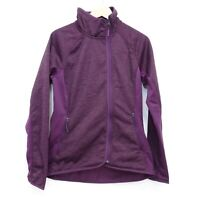 New The North Face Womens Arcata Purple Stretch Fleece Full Zip Active Jacket M