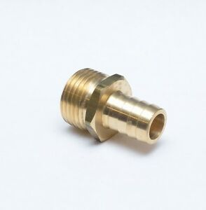 """5/8 Hose ID Barb to 3/4"""" Male Garden Hose End GHT Thread Fitting Water FasParts"""