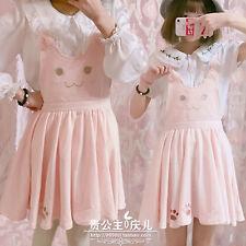 Sweet Japanese Mori Girl Lolita Kawaii Loose Harajuku VINTAGE Suspenders Skirts