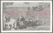 Vintage Photo Unusual Cement Mixer Truck Wreck 695087