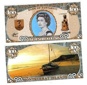 MONTSERRAT ISLANDS Billet 100 DOLLAR 2018 BATEAU REINE ELIZABETH II QE2 NEUF UNC