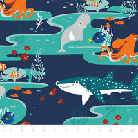 Finding Dory Characters in Navy 85170101 Camelot 100% cotton fabric by the yard