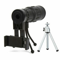 16x52 Monocular Telescope Zoom Lens Camera HD Scope Hiking Hunting Phone Holder