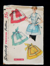 1950's Vintage SIMPLICITY 4857 BOWTIE BACK Cooking KITCHEN APRON DRESS PATTERN