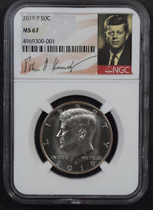 2019 P KENNEDY HALF DOLLAR *** NGC GRADED MS 67!