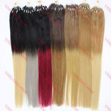 Dick 1g/s Echthaar Microring/Loop Extensions Ombre Haarverlängerung 40-60cm Glat