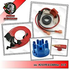 Powerspark Range Rover Classic Electronic Ignition Kit, Cap, Rotor & Red Leads