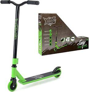 Xootz Envy Kids Stunt Trick Scooter Y Bar Girls Boys Ride On Toy Black & Green