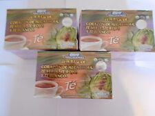 3 X BOXS  TE DE ALCACHOFA  + GREEN TEA LOSE WEIGHT, UNISEX GN+VIDA , ORIGINAL.
