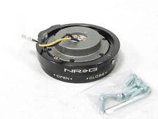 NRG Innovations Steering Wheel Quick Release Kit Thin Version Black SRK-400BK