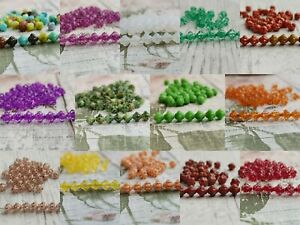 Czech glass small flower spacer mix beads 6 mm pack of 100 - pick colour