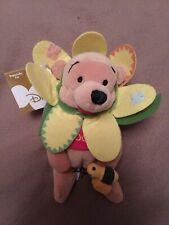 "Flower Pooh 8"" Disney Store Mini Bean Bag."
