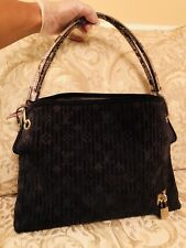 Authentic Louis Vuitton Monogram Khol Whisper Suede Leather Python Handbag