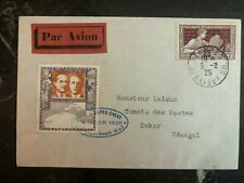 1925 Étampes France Early Airmail Cover to Dakar Senegal World dinstance record