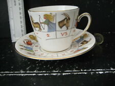 VINTAGE HOROSCOPE ZODIAC ASTROLOGY KNOWLEDGE CUP SAUCER  FORTUNE TELLING ENGLAND