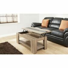 High Gloss Lift up Coffee Table With Storage Compartment in Various Colours Walnut / Black Strip