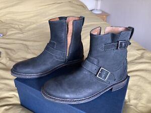 Clarks Mens Biker Boots Bkack Size 7