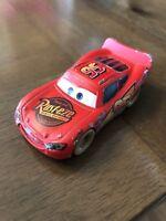 DISNEY PIXAR CARS 1:55 SCALE DIECAST DIRT TRACK LIGHTNING MCQUEEN ORIGINAL (5)@