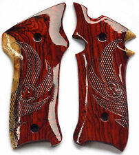 RUGER MKIII GRIPS COCOBOLO ROOT WOOD with EAGLE WINGS laser design R-10 NICE!!!
