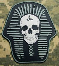 DEATH SKULL SKELETON KING 3D PVC RUBBER SWAT USA VELCRO® BRAND FASTENER PATCH