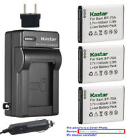 Kastar Battery Travel Charger for Samsung BP-70A & Samsung TL205 WB30F Camera