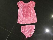 Juicy Couture New & Gen. Baby Girls Pink Cotton Dress & Matching Pants 6/12 MTHS