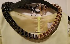 Mimco Gunmetal/gold Chain Choker Necklace Collar Dust Bag