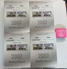 2007 JEEP PATRIOT COMPASS SERVICE SHOP REPAIR MANUAL 4  VOLUME SET
