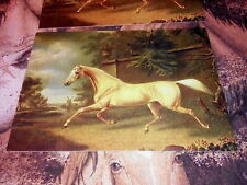 2 Palomino Horse Trotting 1814 Art Color Postcards by Charles Towne Altered Art