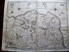 83-3  Gravure carte 1640  dressée par  Blaeu Comté de Boulogne et Guisnes