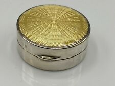 Art Deco 1927 Solid Silver & Guilloche Emanel Compact/rouge Box Deakin & Francis
