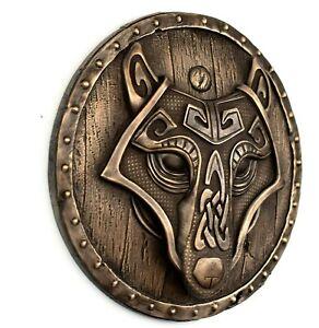 Fenrir Wolf Artwork Norse Art Viking Decor Bronze Wall Sculpture Home Decor Gift