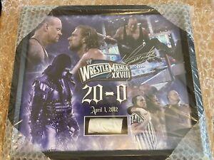 WWE WRESTLEMANIA 28 HAND SIGNED UNDERTAKER PLAQUE AUTOGRAPH