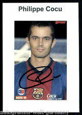 Philippe Cocu FC Barcelona TOP Foto Orig. Sign. +G 9503