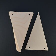 WOODEN BUNTING FLAGS VARIOUS SIZES X 10 WEDDING FAVOURS/GIFTS/GARLANDS/BIRTHDAY