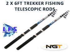 2 X NGT Telescopic FISHING Rod 1.8M 6ft Telescopic Trekker RodS