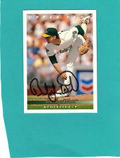 BOBBY WITT Hand Signed 1993 Upper Deck Baseball Card #87