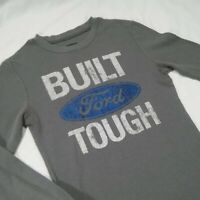 Ford Women Small Printed Sweater Gray Long Sleeve Pullover 04J