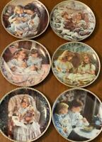 Sandra Kuck Plates ~ A Collection Of Six Mint Plates No Cracks, Chips, Beautiful